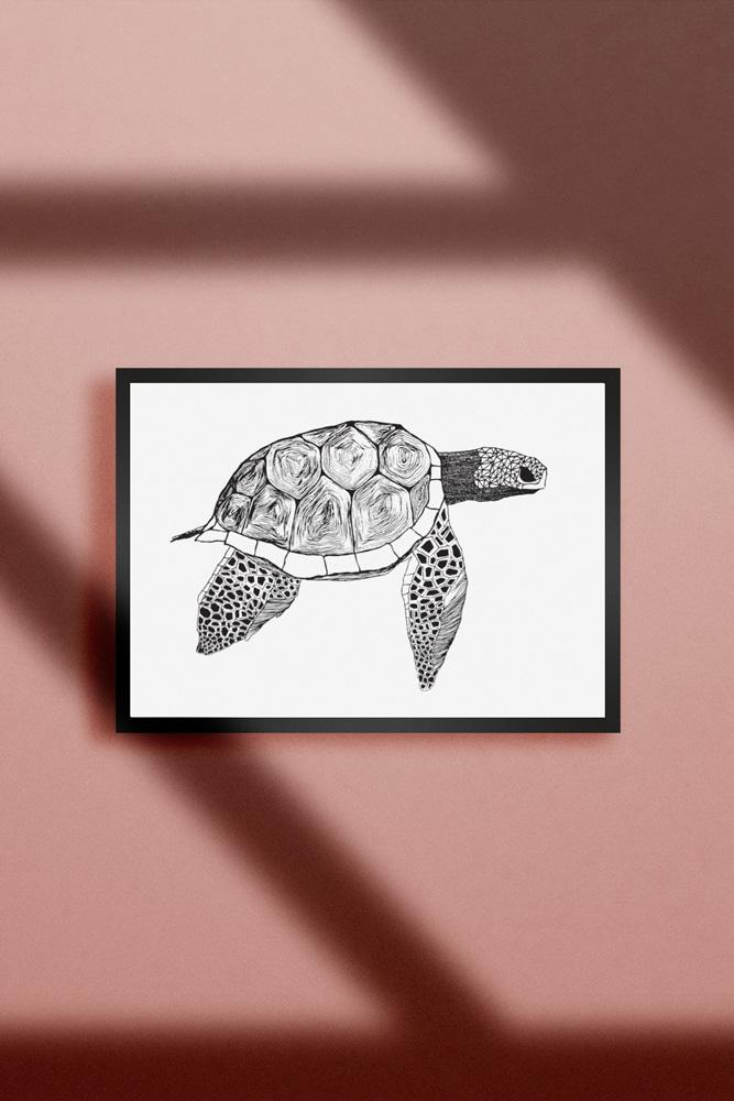 Werjant-artprint-landscape-Turtle