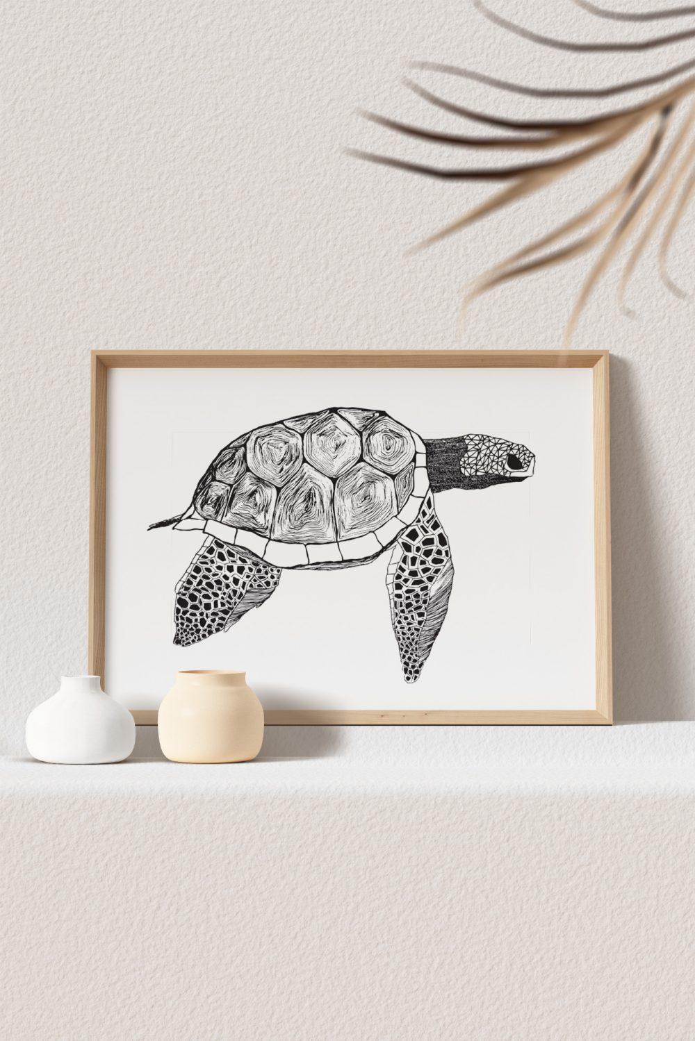 Werjant-artprint-landscape-mockup-turtle