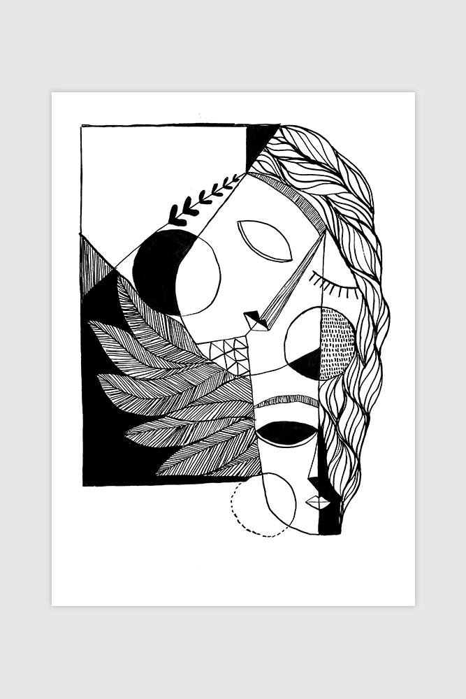 Werjant-artprint-portrait-cubistcouple