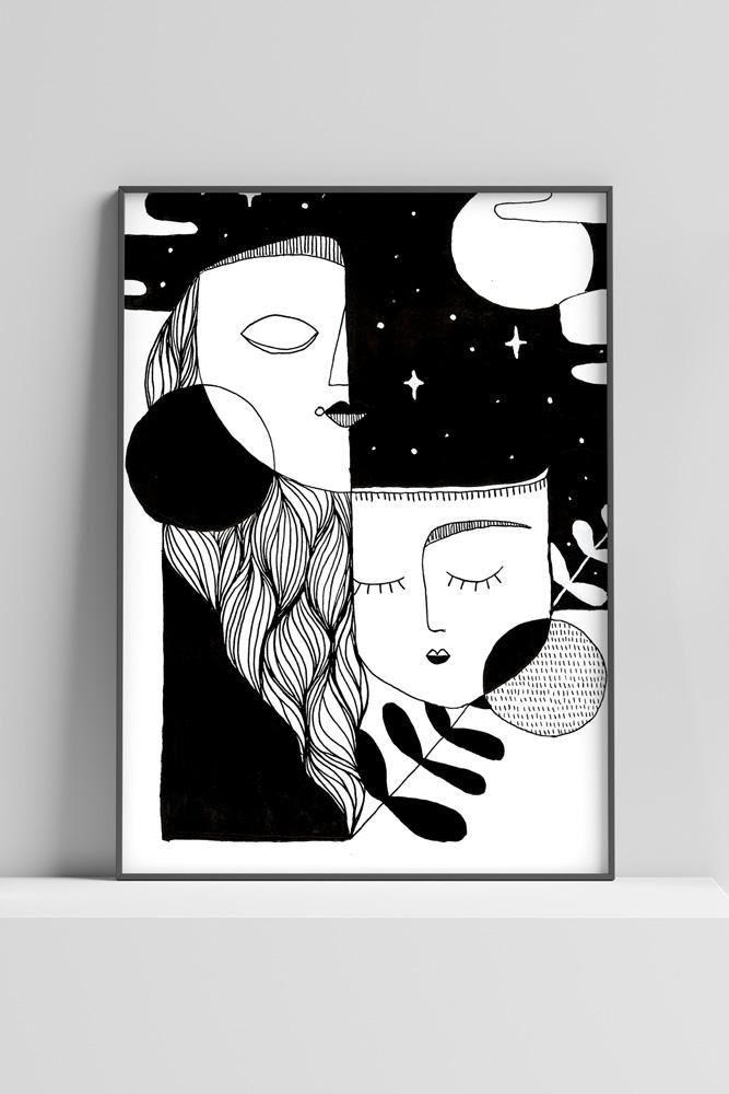 Werjant-artprint-portrait-cubistdream