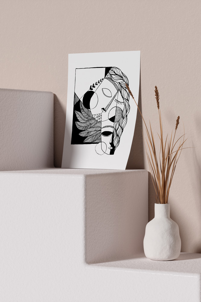 Werjant-artprint-portrait-mockup-cubistcouple