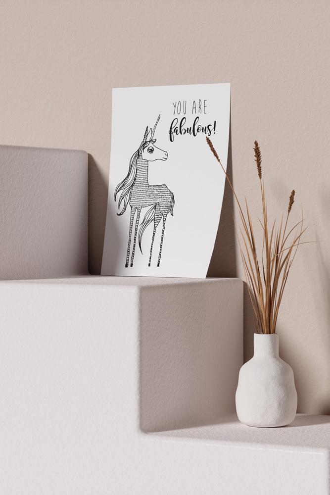 Werjant-artprint-portrait-mockup-unicorn