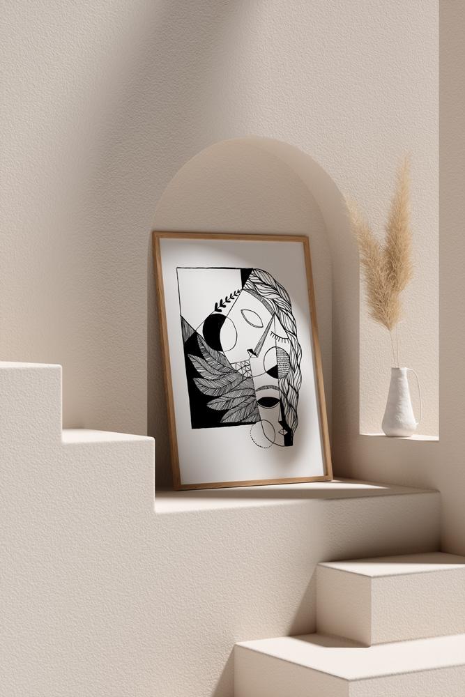 Werjant-artprint-portrait-mockup2-cubistcouple