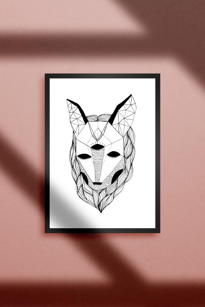 Werjant-artprint-portrait-wolf